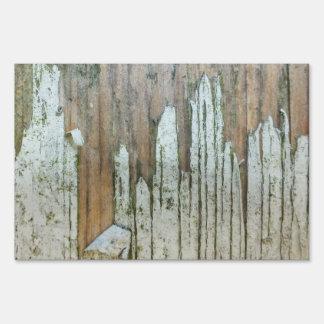 wood yard sign