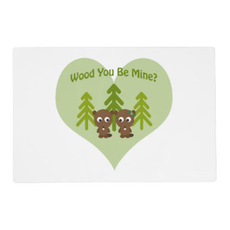Wood You Be Mine Beaver Couple Placemat