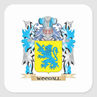 Woodall Coat of Arms - Family Crest Square Sticker