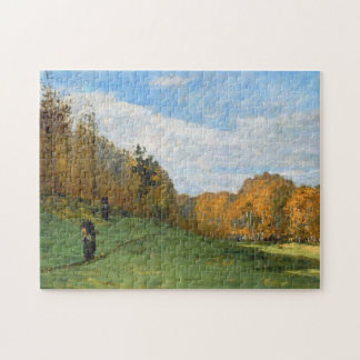 Woodbearers in Fontainebleau Forest Monet Fine Art Puzzle