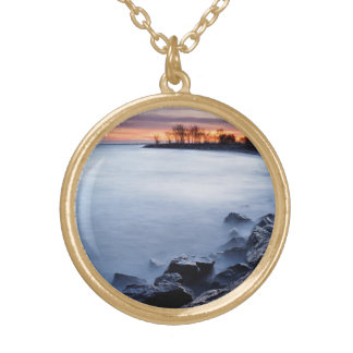 Woodbine Beach Toronto Ontario Canada at Sunrise Personalized Necklace