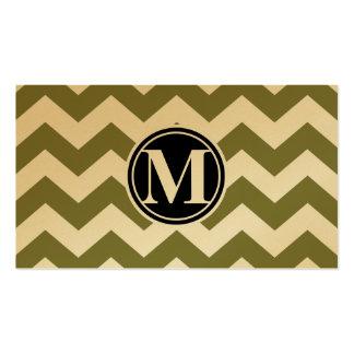 Woodbine Chevron and Monogram Business Card
