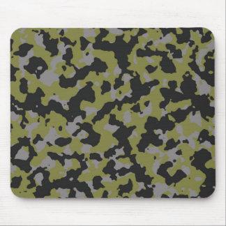 Woodbine Green Titanium Gray Camouflage Print Mouse Pad