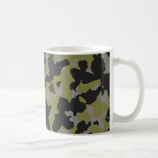 Woodbine Green Titanium Gray Camouflage Print Mug