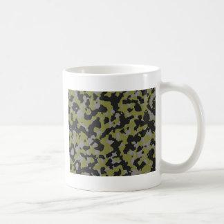 Woodbine Green Titanium Gray Camouflage Print Mugs