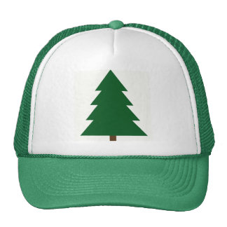 Woodblock Christmas Tree Trucker Hat