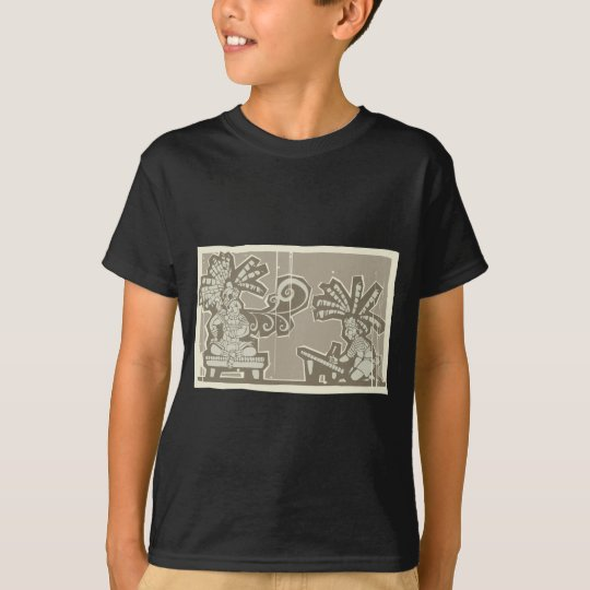 Woodblock Mayan King A T-Shirt