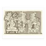Woodblock Mayan King B Postcard