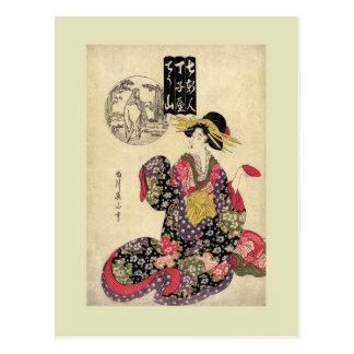 Woodblock print by Eizan Postcard