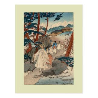 Woodblock print by Elizabeth Keith Postcard