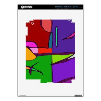 Woodblock Print Simulation Decals For iPad 3
