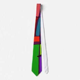 Woodblock Print Simulation Neck Tie