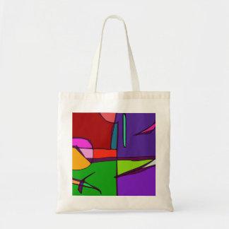 Woodblock Print Simulation Tote Bag
