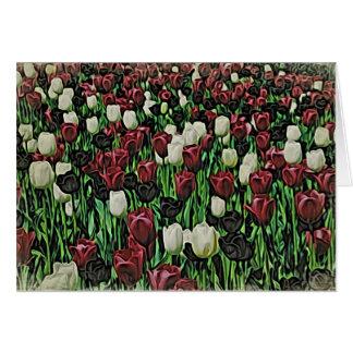 Woodblock Tulips Card