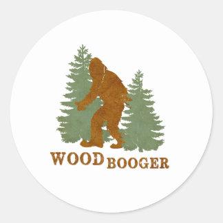Woodbooger Round Sticker