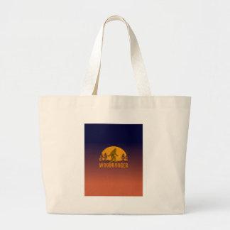 Woodbooger Vintage Sunset Large Tote Bag