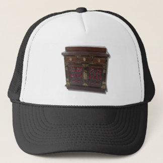 WoodBrassChest081210 Trucker Hat