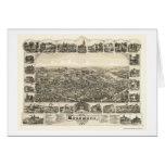 Woodbury, mapa panorámico de NJ - 1886 Tarjeta