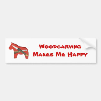 Woodcarving Bumper Sticker