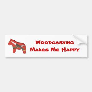 Woodcarving Bumper Sticker