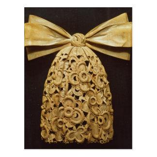 Woodcarving of a cravat postcard