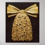 Woodcarving of a cravat print