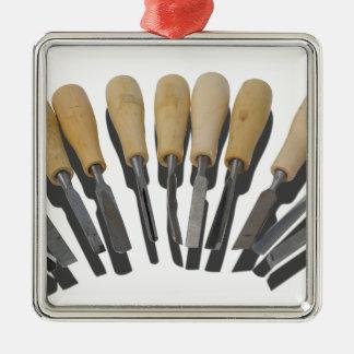 WoodCarvingChisels090615 Metal Ornament