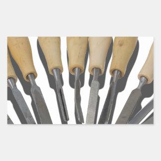 WoodCarvingChisels090615 Rectangular Sticker