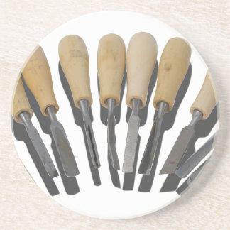 WoodCarvingChisels090615 Sandstone Coaster