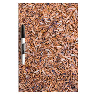 Woodchips as background Dry-Erase board