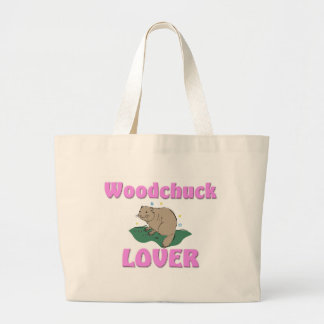 Woodchuck Lover Large Tote Bag