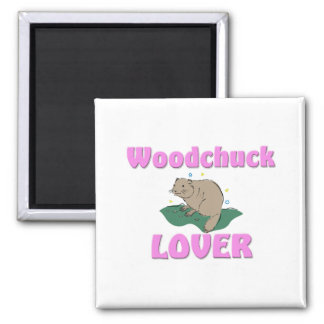 Woodchuck Lover 2 Inch Square Magnet