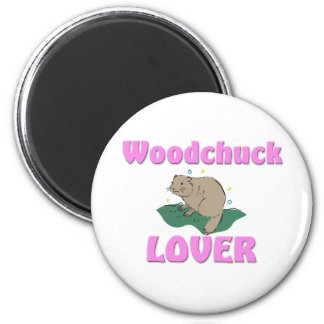 Woodchuck Lover 2 Inch Round Magnet