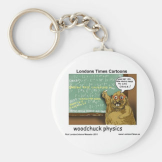 Woodchuck Physics Funny Gifts Tees Mugs & Cards Keychain