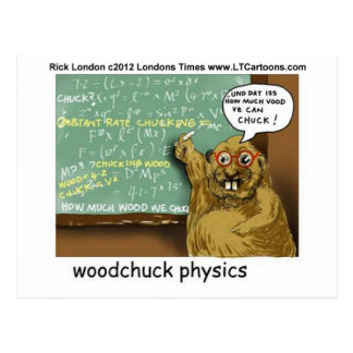 Woodchuck Physics Funny Tees Mugs Gifts Etc Postcard