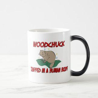 Woodchuck trapped in a human body coffee mugs