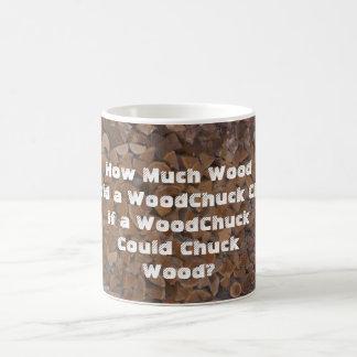 WoodChuck Would Classic White Coffee Mug
