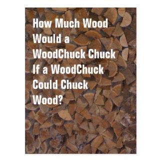 WoodChuck Would Postcard