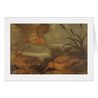 Woodcock at Dusk, c.1676 (oil on canvas) Card