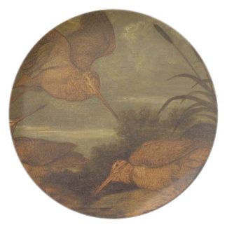 Woodcock at Dusk, c.1676 (oil on canvas) Party Plate