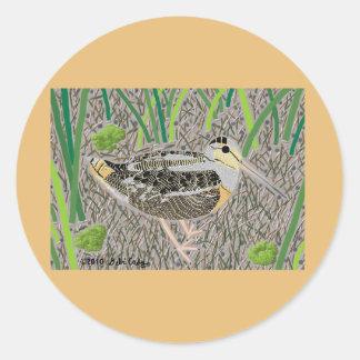 Woodcock Classic Round Sticker