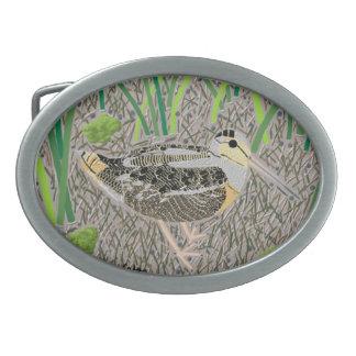Woodcock Oval Belt Buckle