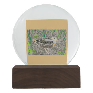 Woodcock Snow Globe