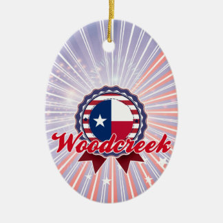 Woodcreek, TX Christmas Tree Ornament