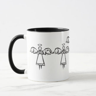 Woodcut Angel Mug