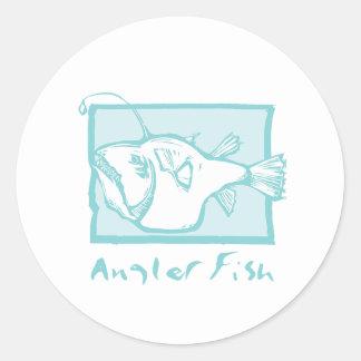 Woodcut Anglerfish Stickers