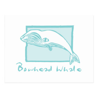 Woodcut Bowhead Whale Postcard