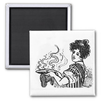 Woodcut Cook Magnet