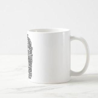 Woodcut Dragon City Coffee Mug