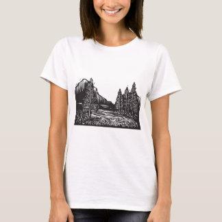 Woodcut Landscape T-Shirt
